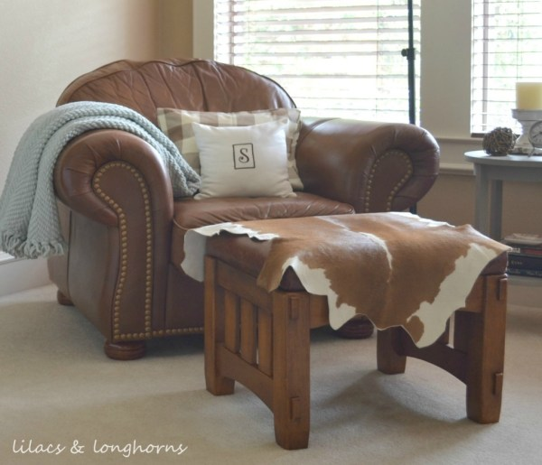 chair and cowhide
