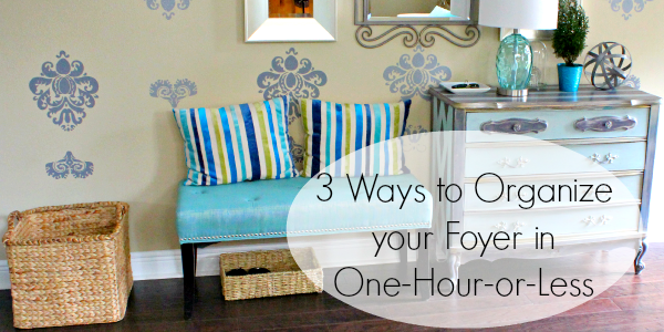 easy ways to organize your foyer feature