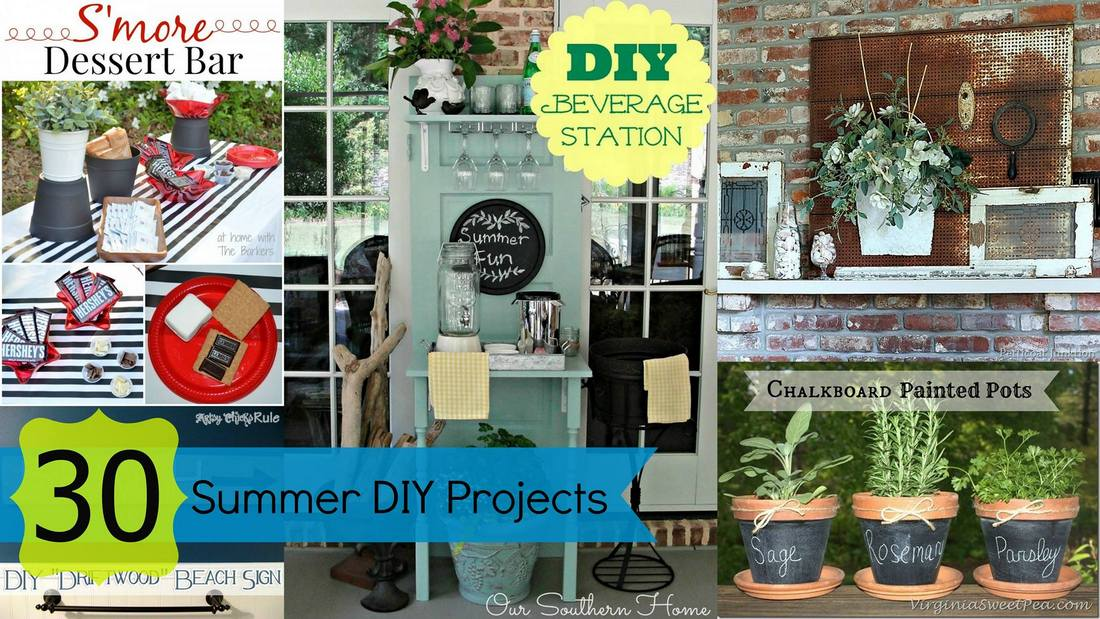 30 Inspiring Summer Projects to do now via Our Southern Home