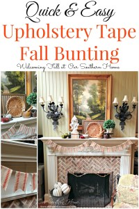 Fall Mantel and a Craft Project