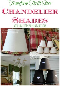 Thrift Store Chandelier Shades Makeover