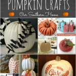 25+ Creative Pumpkin Crafts round-up via Our Southern Home #fallcrafts