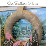 Felted Leaves Wreath made from Goodwill sweaters by Our Southern Home. #felted #felted leaves #fallwreath