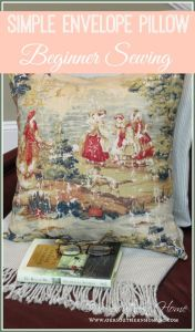 Simple Toile Pillow