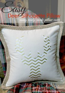 Deer Head Silhouette Pillow