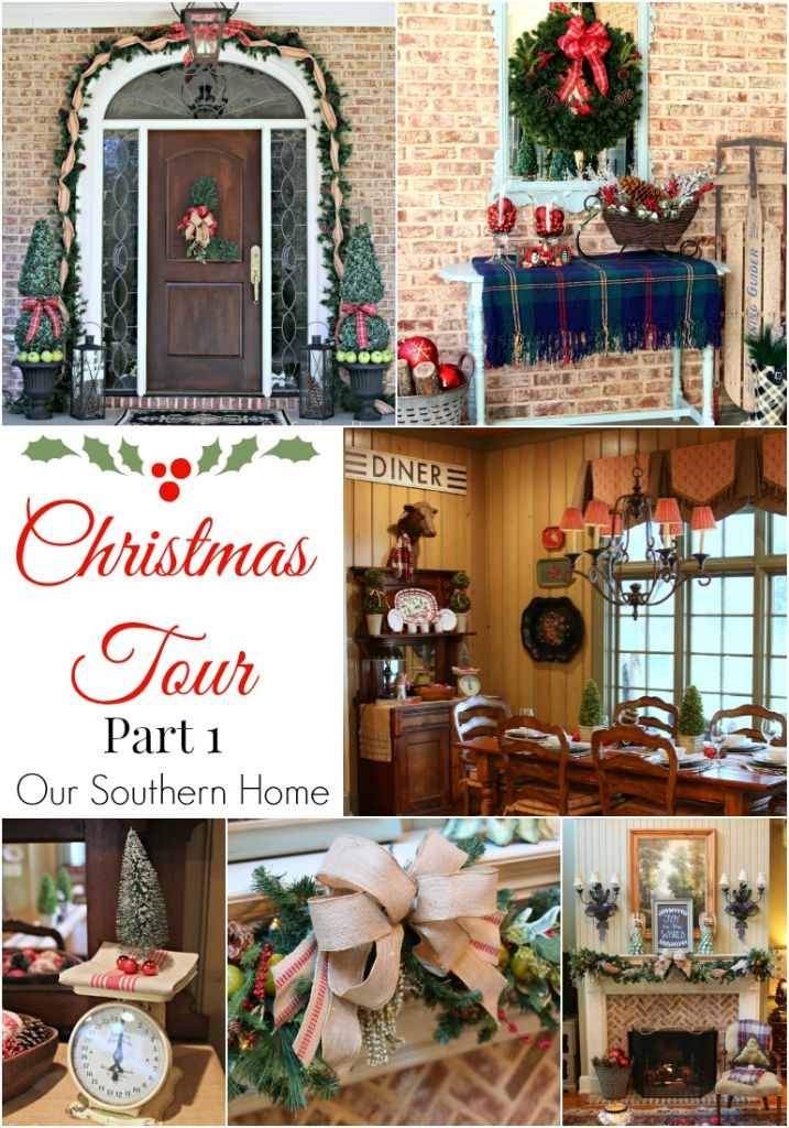 Southern Christmas tour part 1 by Our Southern Home. Beautiful French Country style.