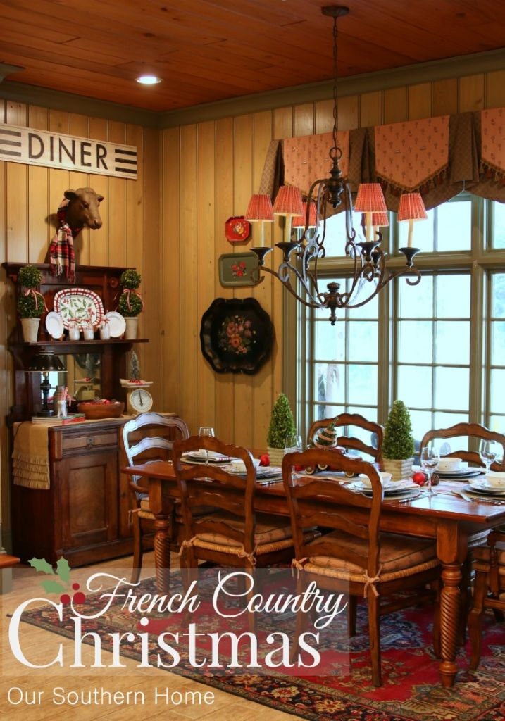 Welcome to a Country Christmas breakfast room by Our Southern Home.