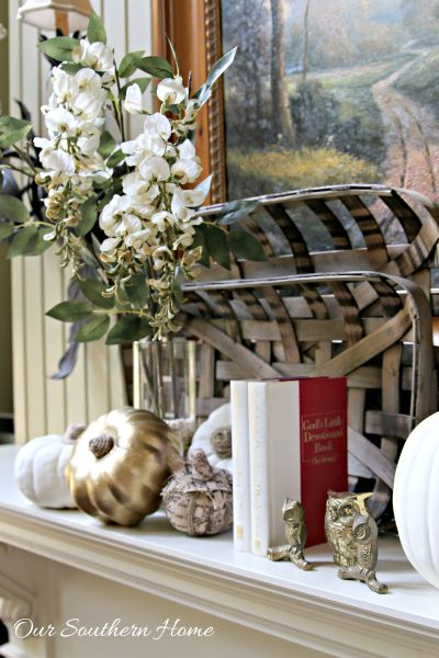 Casually Elegant Fall Mantel