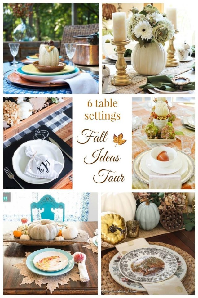 Fall ideas tour with a little something for everyone from decorating to free fall printables!