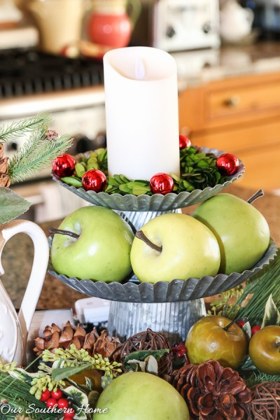 Christmas home tour from Our Southern Home with French Farmhouse style. Lots of DIY ideas. High style on a budget!