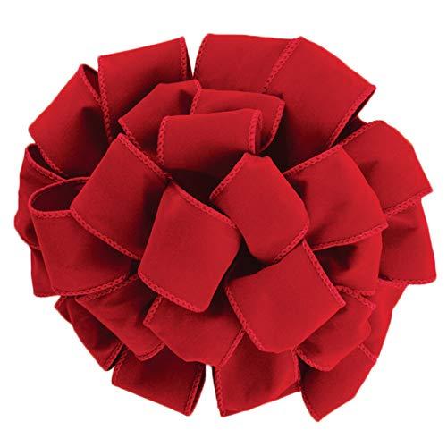 """Wired Red Velvet Christmas Ribbon 2 1/2"""" #40 - 50 Yards"""