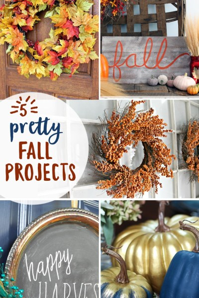 5 Pretty Little Fall Projects from Inspiration Monday link party!
