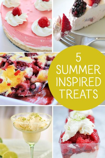 Five Summer Inspired Treats are the features from Inspiration Monday!!