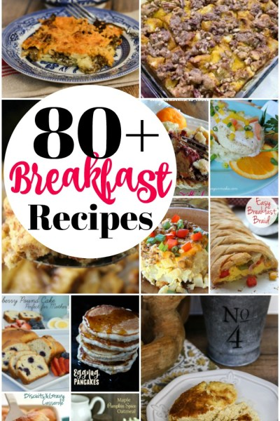 Over 80 fantastic recipes perfect for breakfast or brunch! #breakfast #christmasbreakfast #brunchrecipes #brunch