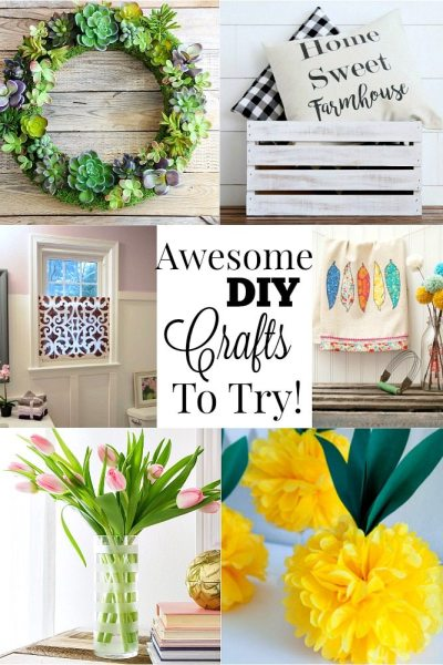 DIY craft ideas are the features from this week's Inspiration Monday link party!