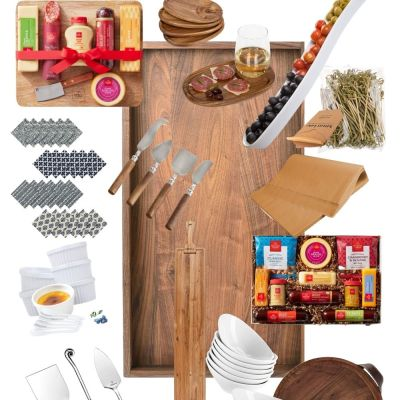 charcuterie gift guide collage