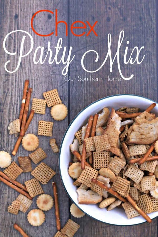 Simple recipe for via Our Southern Home for your Chex Party Mix recipe #ad #mixexchangelove
