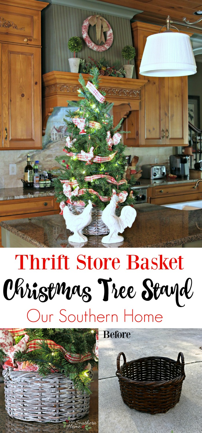 Christmas Tree Basket - Our Southern Home