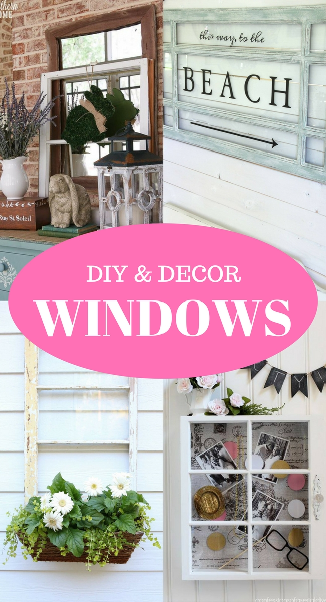 Decorating with windows is easier than you might think. There are many DIY projects and simple ways to incorporate them into your home decor.Check out these ideas!