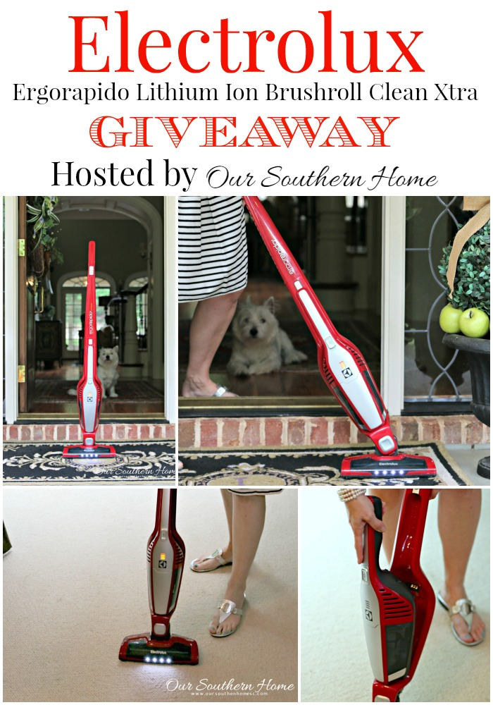 Electrolux Ergorapido Lithium Ion Brushroll Clean Xtra review and giveaway hosted by Our Southern Home