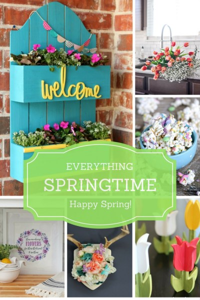Spring Ideas for the Home are the features from this week's Inspiration Monday link party!