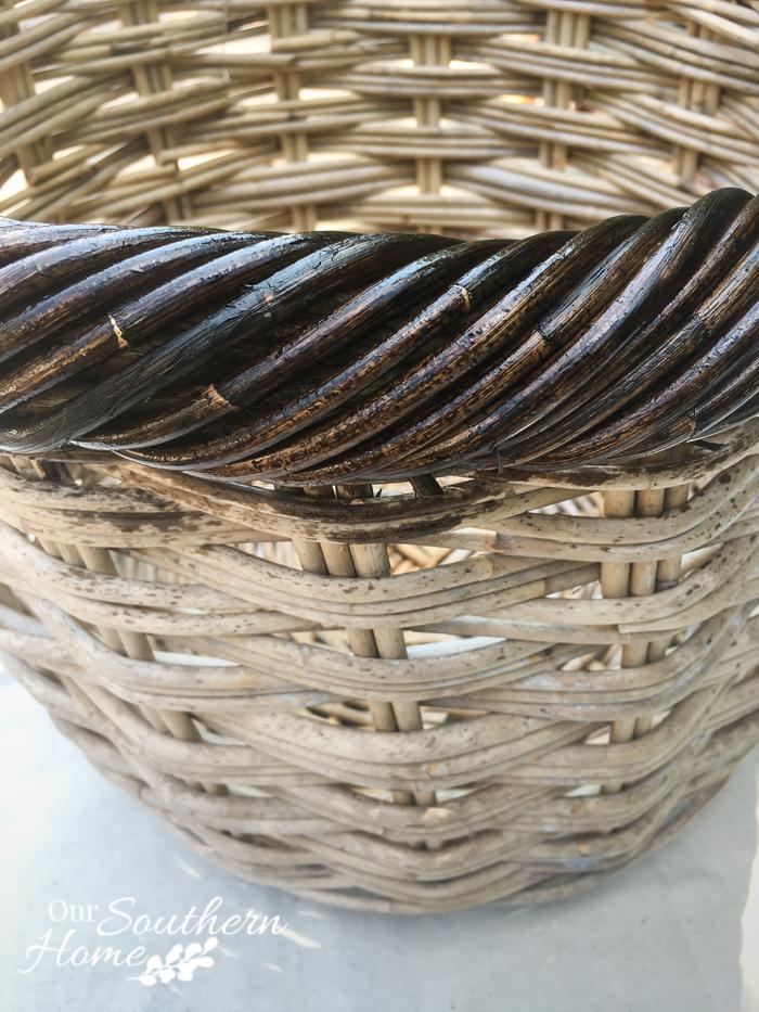 weathered finish basket