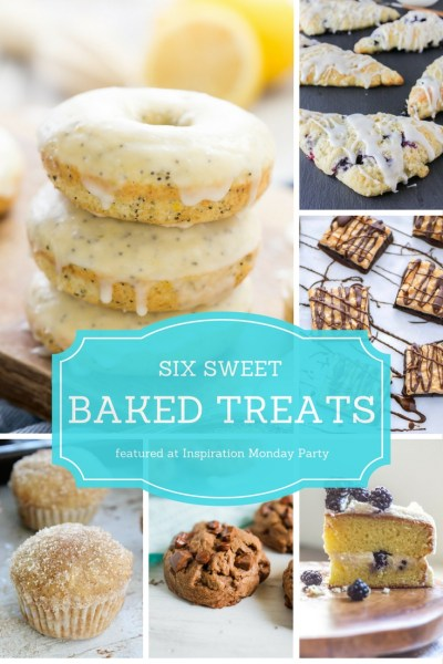 6 sweet baked treats are the features from this week's Inspiration Monday link party!
