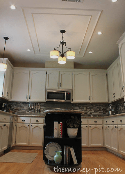 Molding on ceiling