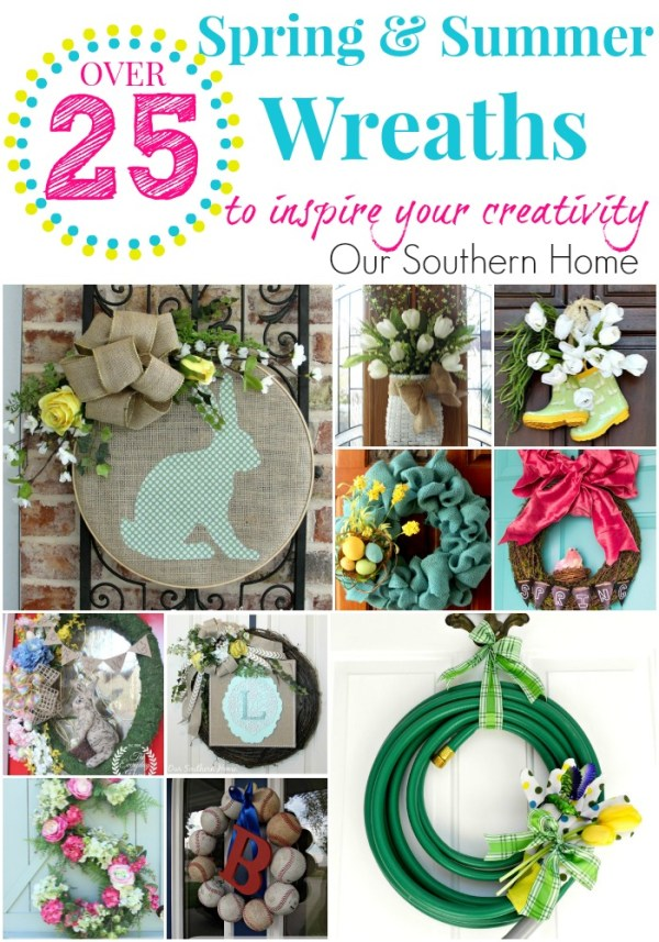 Over 25 spring and summer wreaths to inspire your creativity via Our Southern Home