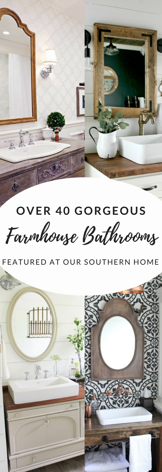 Over 40 Farmhouse And Cottage Bathrooms Our Southern Home