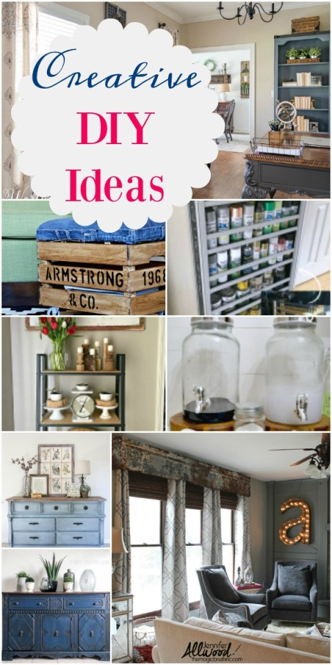 Creative DIY for the home is what this week's Inspiration Monday features are all about! Join us weekly to join the party!