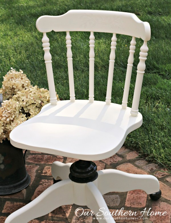 Pottery Barn Teen inspired desk chair makeover by Our Southern Home