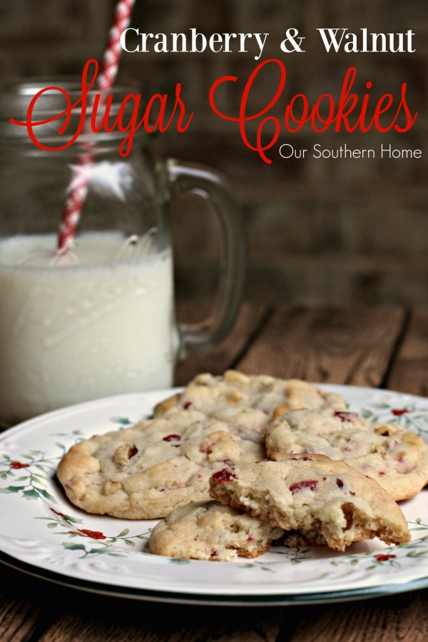 Walnut and Cranberry Cookies / Christmas baking just got easier with Betty Crocker Cookie mixes via www.oursouthernhomesc.com / #bakingwithbetty #ad