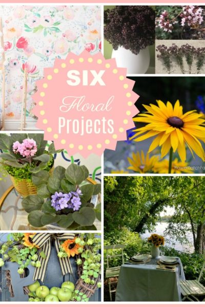 DIY Floral Project Ideas for the home and garden are the features from Inspiration Monday weekly link party!