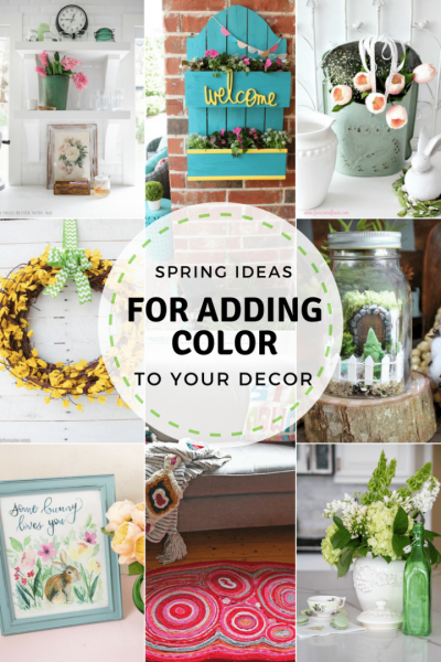 Ideas for adding spring color into your home decor! Features from Inspiration Monday link party #spring #springdecor