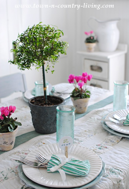 Rosemary Topiary for Effortless Spring Tablescape