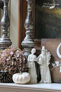 Thanksgiving Mantel Decorating Challenge