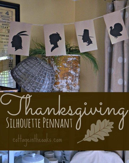Thanksgiving Silhouette Pennant