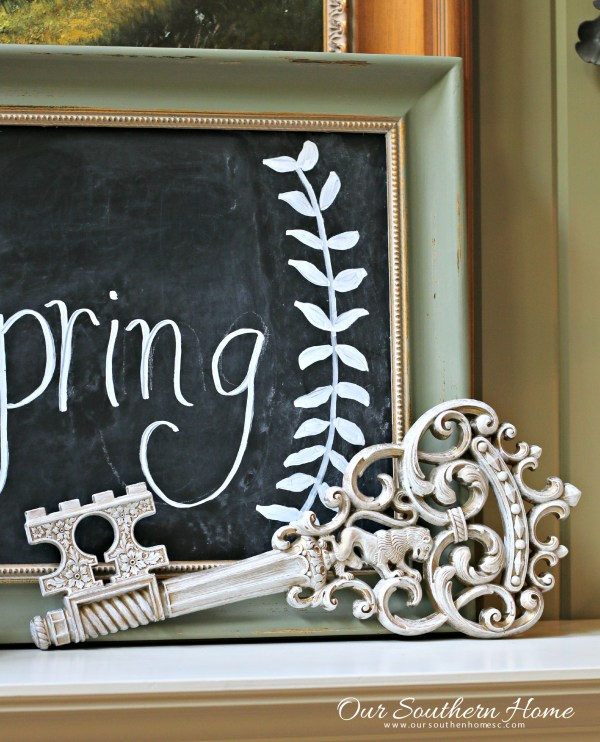 Thrift store decorative key given a new look by Our Southern Home