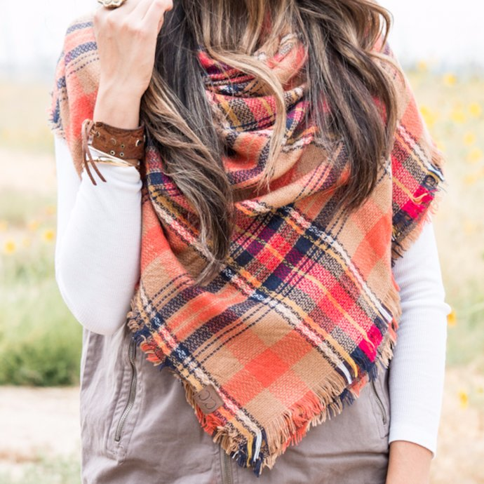 Blanket scarves serve double duty for home and fashion!