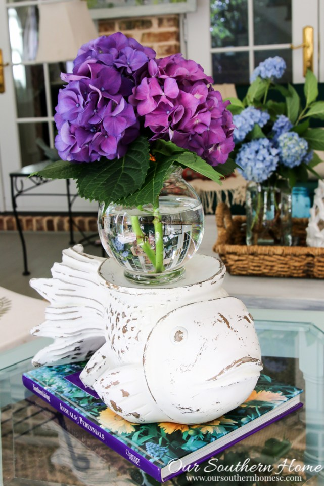 carved fish vase makeover by our southern home-32