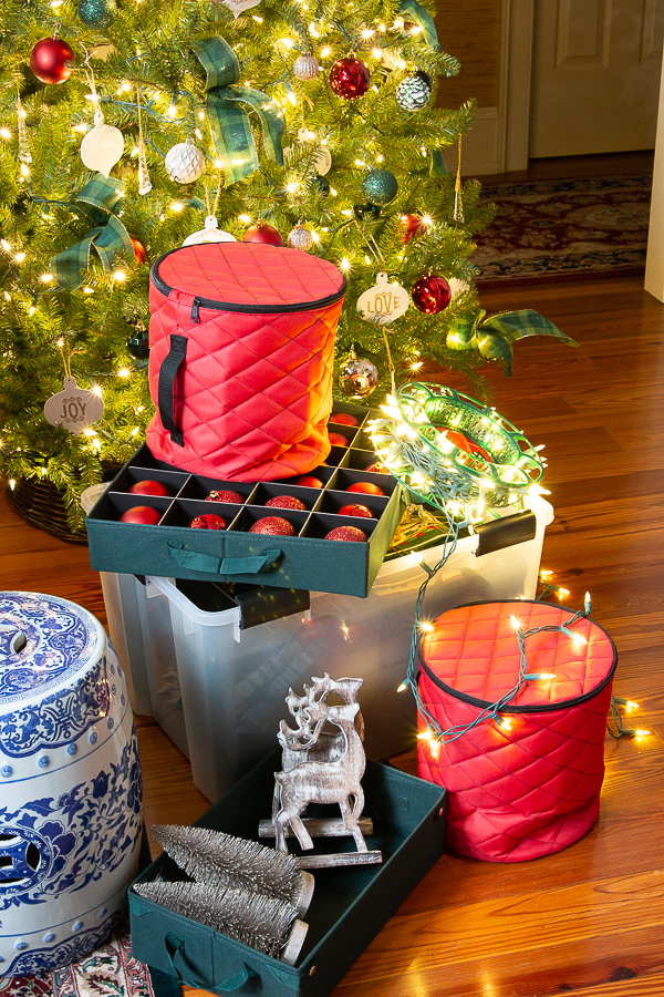 christmas crates and storage