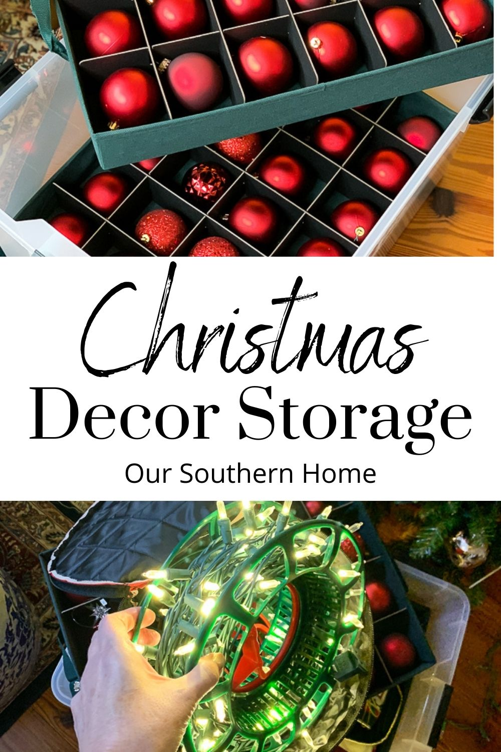 christmas decor storage containers