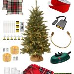 christmas decorating items in a collage
