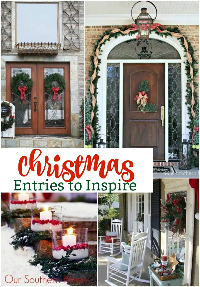 Inviting Christmas entires to inspire your creativity! #christmasentry #christmasdecor