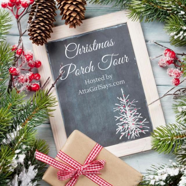 Christmas Porch Tour featuring ideas from top bloggers!