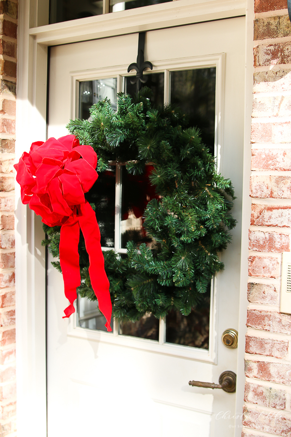wreath with red box