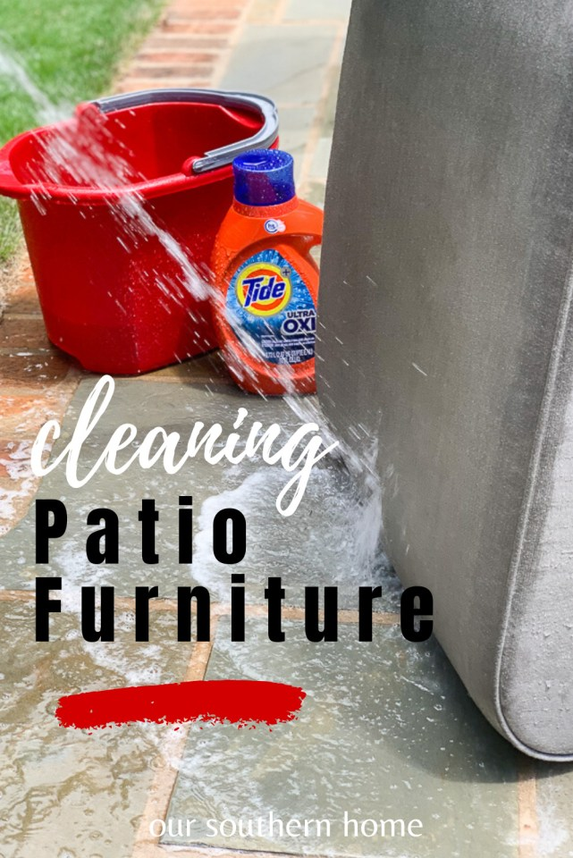 cleaning patio cushions with tide