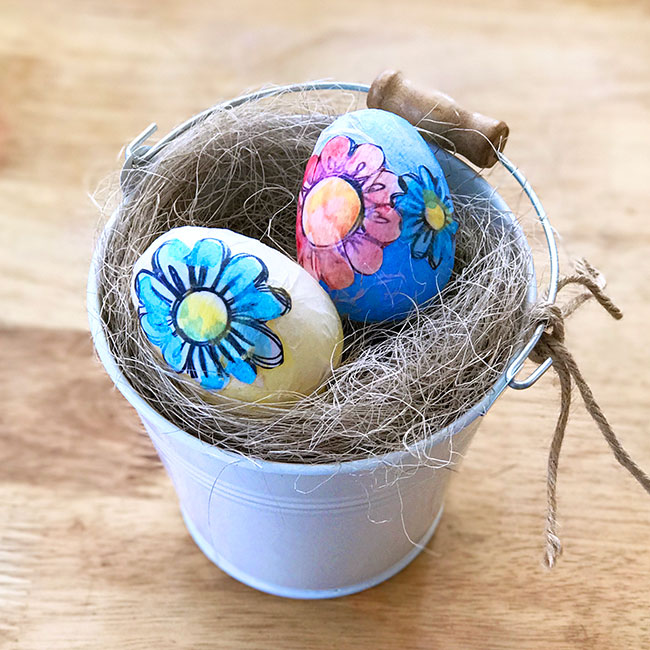 Coloring Book Decoupage Eggs (Inspiration Monday Features)
