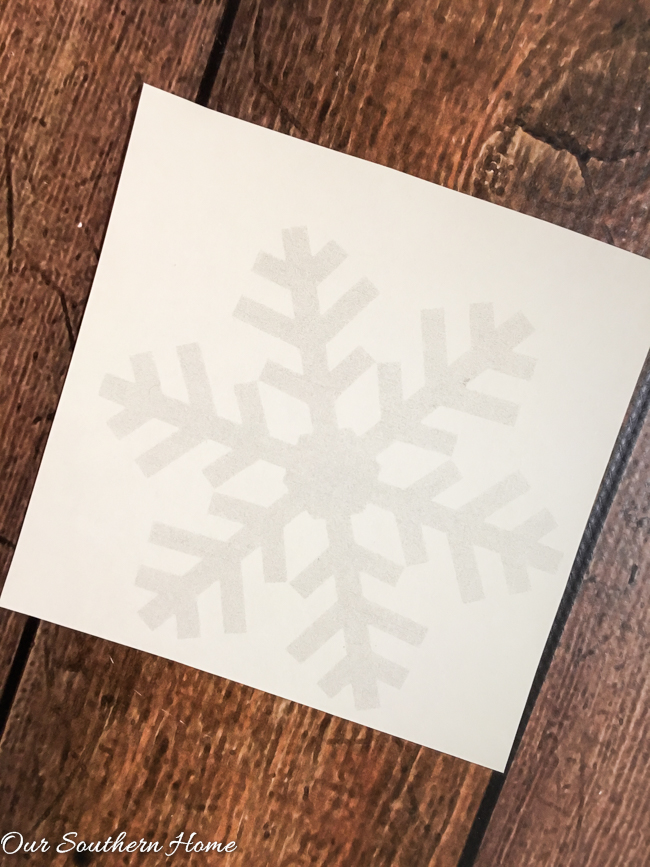Easy DIY Snowflake Ornament using mini-embroidery hoops!